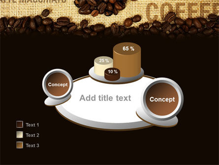 Coffee Beans On A Canvas PowerPoint Template Slide 16