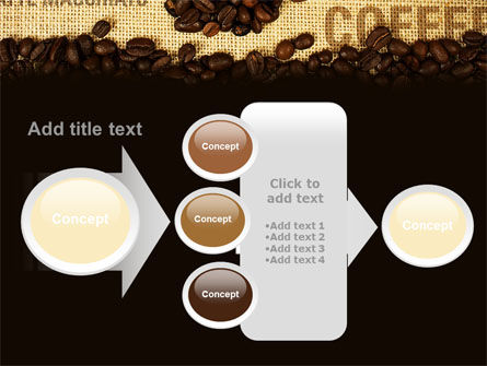 Coffee Beans On A Canvas PowerPoint Template Slide 17