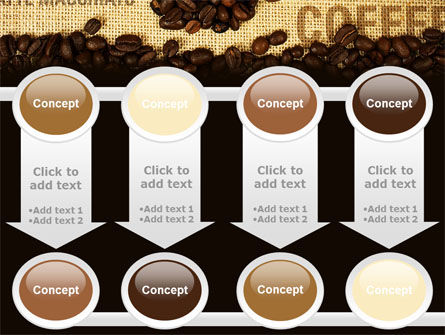 Coffee Beans On A Canvas PowerPoint Template Slide 18