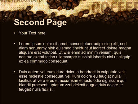 Coffee Beans On A Canvas PowerPoint Template Slide 2