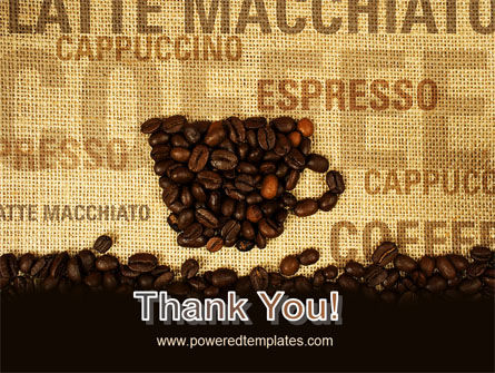 Coffee Beans On A Canvas PowerPoint Template Slide 20