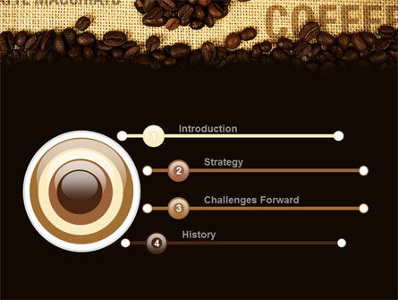 Coffee Beans On A Canvas PowerPoint Template Slide 3