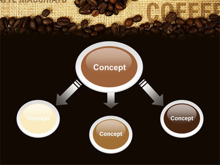 Coffee Beans On A Canvas PowerPoint Template Slide 4