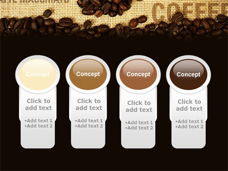 Coffee Beans On A Canvas PowerPoint Template Slide 5