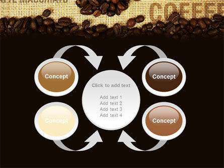 Coffee Beans On A Canvas PowerPoint Template Slide 6