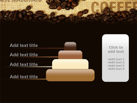 Coffee Beans On A Canvas PowerPoint Template Slide 8