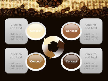 Coffee Beans On A Canvas PowerPoint Template Slide 9