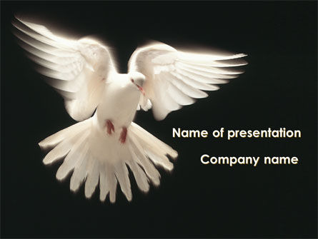 Animals and Pets: Soaring Dove PowerPoint Template #09389