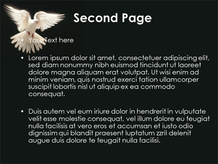 Soaring Dove PowerPoint Template, Slide 2, 09389, Animals and Pets — PoweredTemplate.com