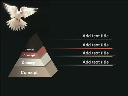 Soaring Dove PowerPoint Template, Slide 4, 09389, Animals and Pets — PoweredTemplate.com