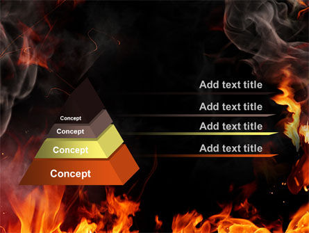 Forks Of Flame PowerPoint Template Slide 12
