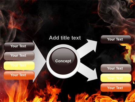 Forks Of Flame PowerPoint Template Slide 14