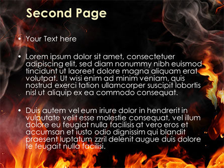 Forks Of Flame PowerPoint Template Slide 2