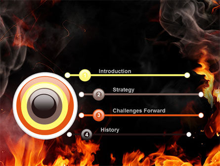 Forks Of Flame PowerPoint Template Slide 3