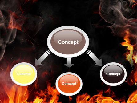 Forks Of Flame PowerPoint Template Slide 4
