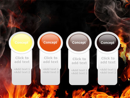 Forks Of Flame PowerPoint Template Slide 5