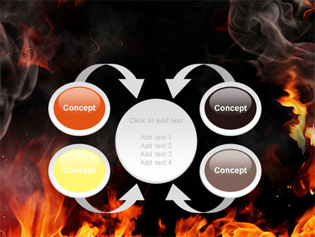 Forks Of Flame PowerPoint Template Slide 6