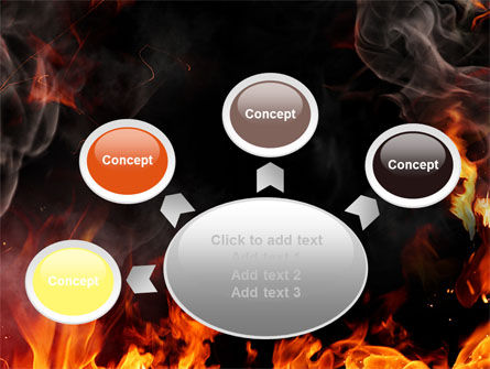 Forks Of Flame PowerPoint Template Slide 7