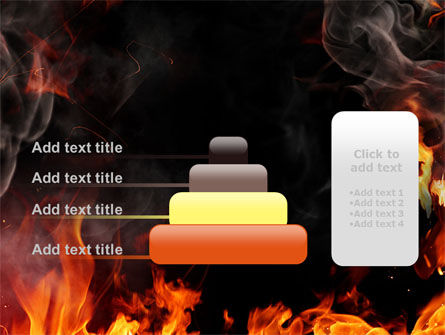 Forks Of Flame PowerPoint Template Slide 8