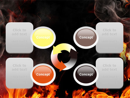 Forks Of Flame PowerPoint Template Slide 9