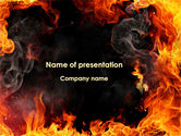 Abstract/Textures: Forks Of Flame PowerPoint Template #09390