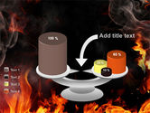 Forks Of Flame PowerPoint Template#10