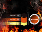 Forks Of Flame PowerPoint Template#11
