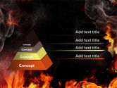 Forks Of Flame PowerPoint Template#12
