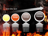 Forks Of Flame PowerPoint Template#13