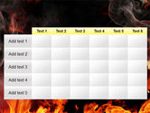 Forks Of Flame PowerPoint Template#15