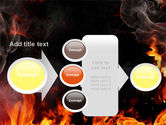 Forks Of Flame PowerPoint Template#17