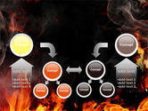 Forks Of Flame PowerPoint Template#19