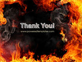 Forks Of Flame PowerPoint Template#20