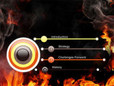 Forks Of Flame PowerPoint Template#3