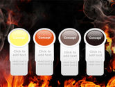 Forks Of Flame PowerPoint Template#5