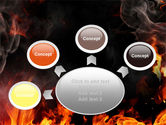 Forks Of Flame PowerPoint Template#7