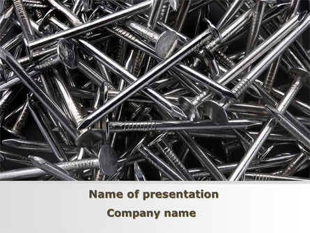 Nails PowerPoint Template, 09392, Utilities/Industrial — PoweredTemplate.com
