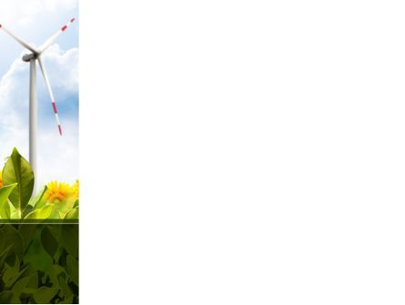 Windmills Field PowerPoint Template, Slide 3, 09393, Nature & Environment — PoweredTemplate.com