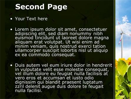 Windmills Field PowerPoint Template, Slide 2, 09393, Nature & Environment — PoweredTemplate.com