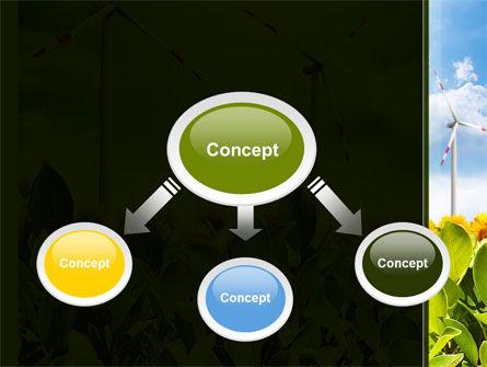 Windmills Field PowerPoint Template, Slide 4, 09393, Nature & Environment — PoweredTemplate.com
