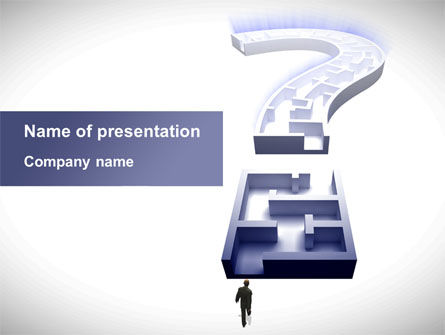 Labyrinth Question Mark PowerPoint Template, 09395, Consulting — PoweredTemplate.com