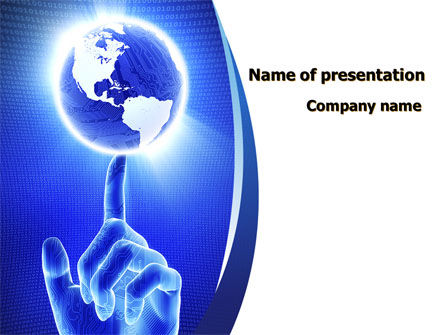 World In A Fingertip PowerPoint Template