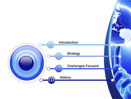 World In A Fingertip PowerPoint Template, Slide 3, 09397, Global — PoweredTemplate.com