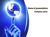 Global: World In A Fingertip PowerPoint Template #09397
