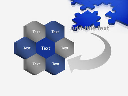 Blue Puzzle PowerPoint Template Slide 11