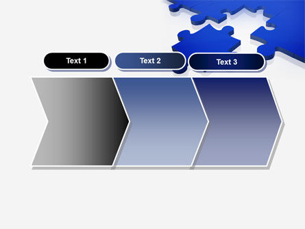 Blue Puzzle PowerPoint Template Slide 16