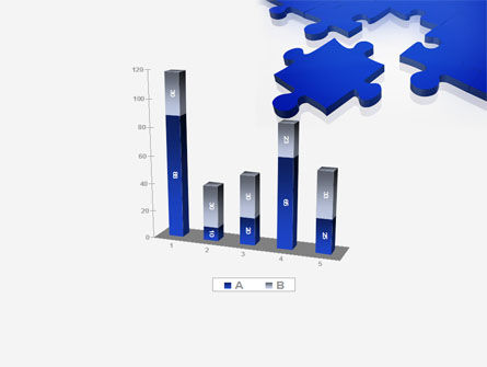 Blue Puzzle PowerPoint Template Slide 17