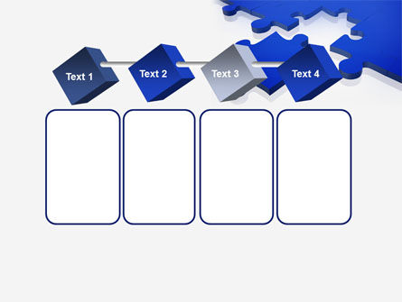 Blue Puzzle PowerPoint Template Slide 18