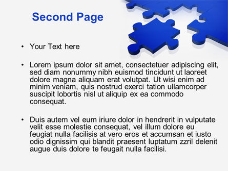 Blue Puzzle PowerPoint Template Slide 2
