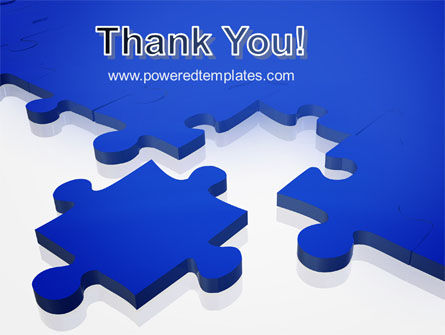 Blue Puzzle PowerPoint Template Slide 20